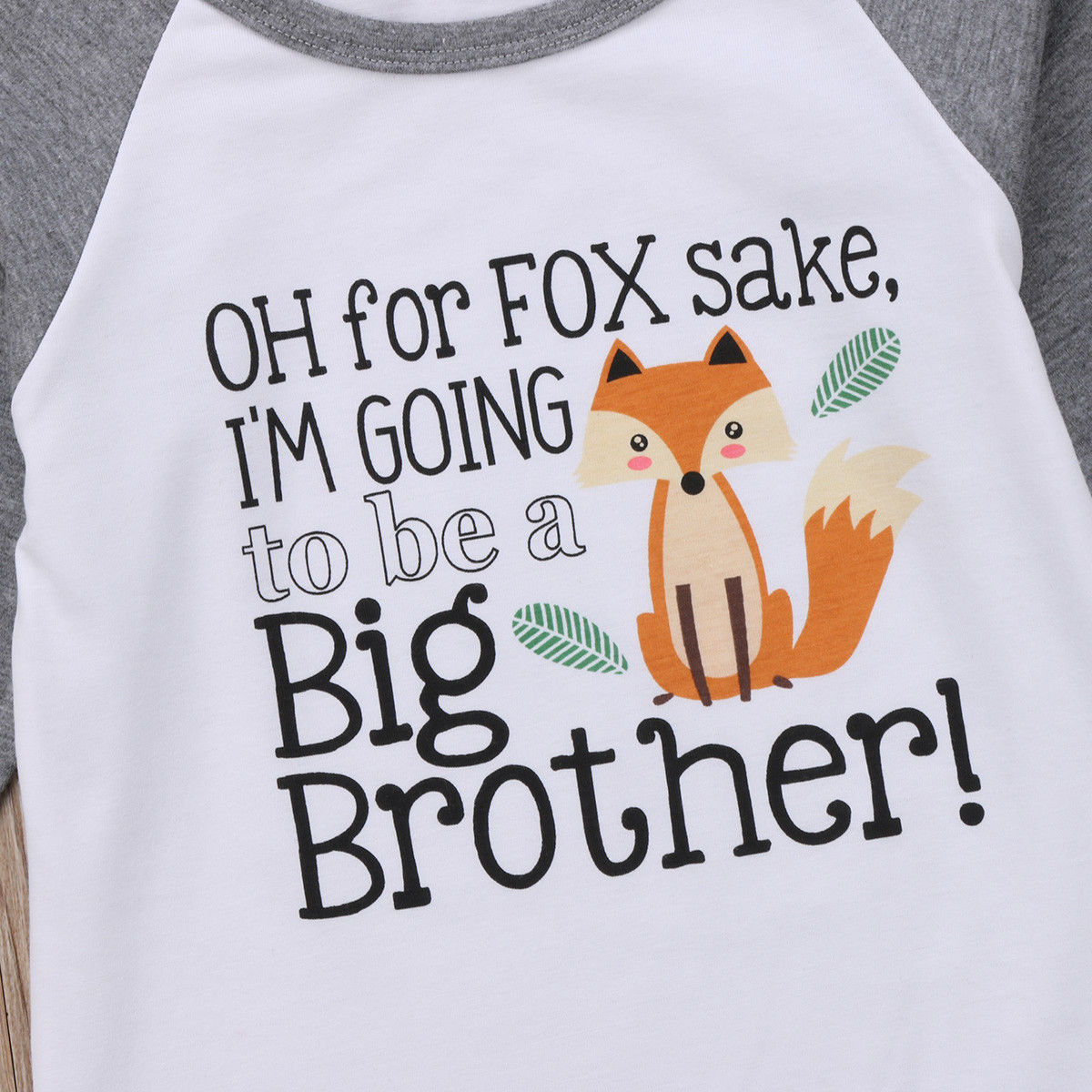 "Boys""For Fox Sake"" Big Brother Fox Baseball Tee"