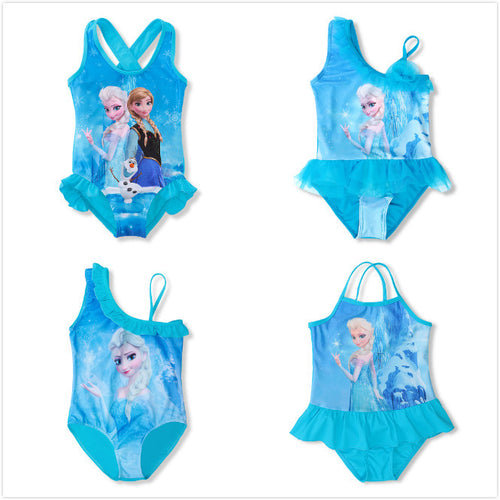 Girls Frozen's Elsa Swimsuit: 4 Styles!