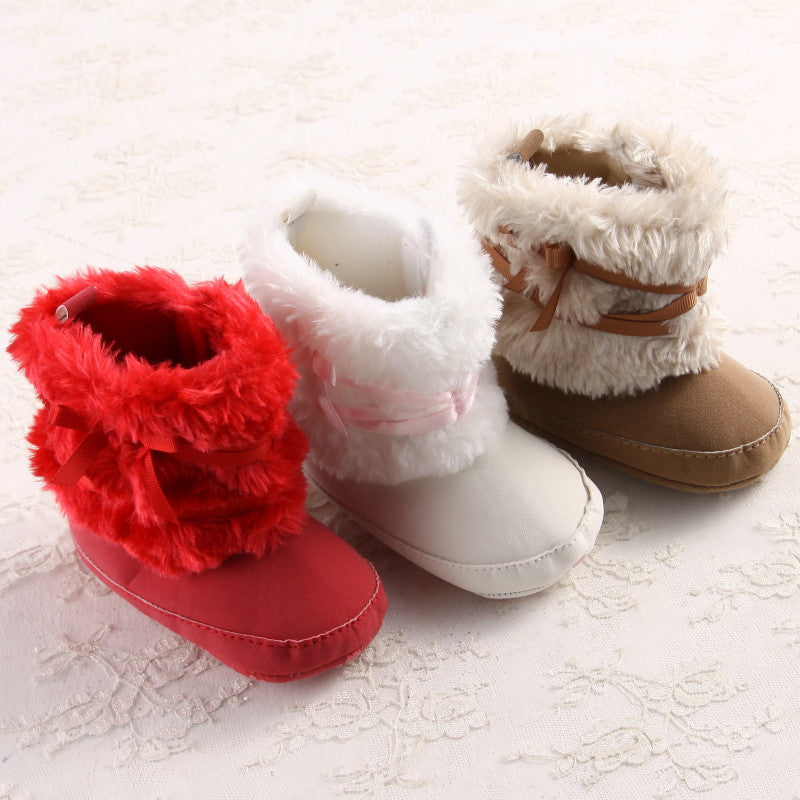 Baby Girls Faux Fur Winter Boots with