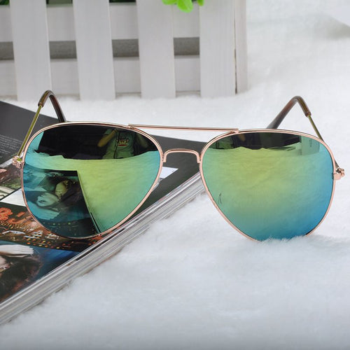Kids Unisex Aviator Mirrored Sunglasses