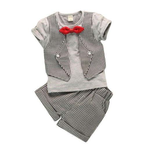 Baby Boys Short Sleeve and Shorts Suit Set