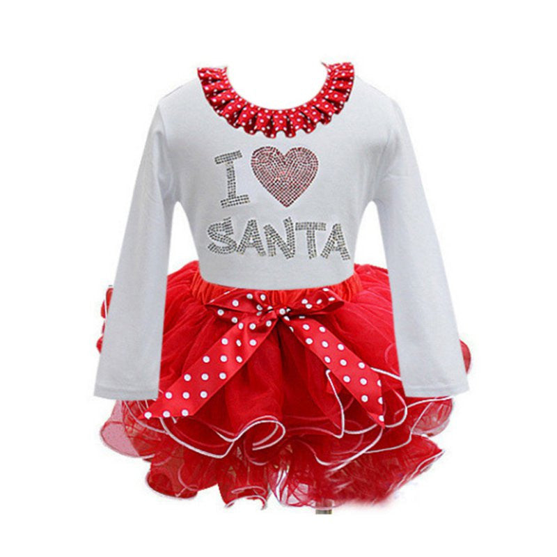 Girls Christmas Santa Claus Tutu Dress: 2 Styles!