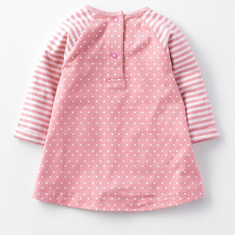 Girls Stripes and Polka Dots 2 pc. Animal Set: Fox or Mouse Style
