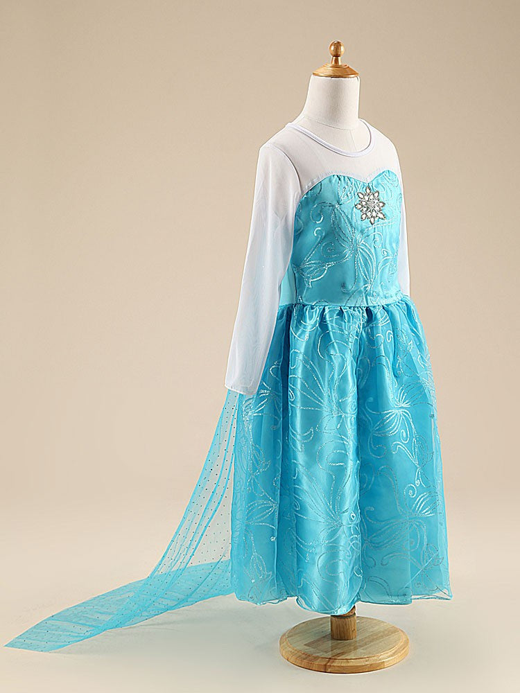 Girls Elsa Frozen Princess Dress: 3 Styles!