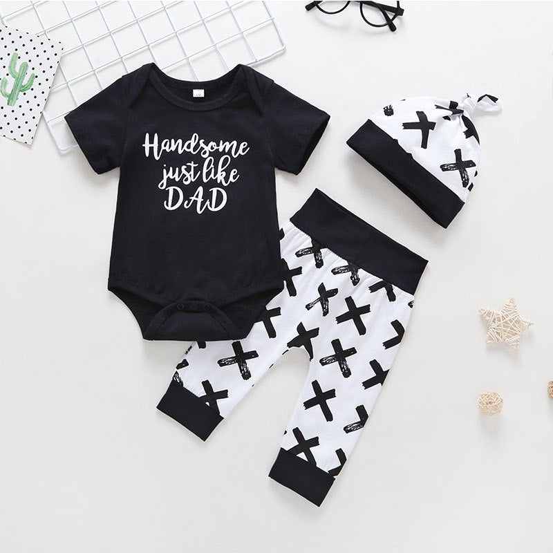 "Baby Boys ""Handsome Just Like Dad"" 3-Piece Set"