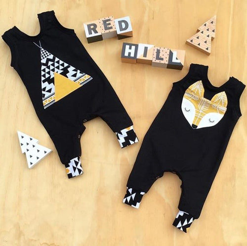 Baby Boys Fox or Teepee Tank Jumpsuit