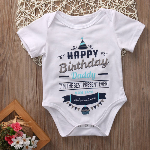 """Happy Birthday Daddy"" Onesie"
