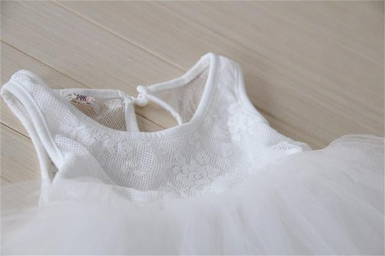 Girls Lace and Tulle with Pearls Dress: 5 Colors!