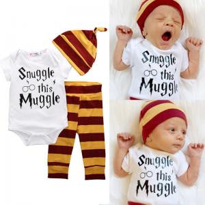 Harry Potter Inspired Muggle Baby Boys 3 pc. Set