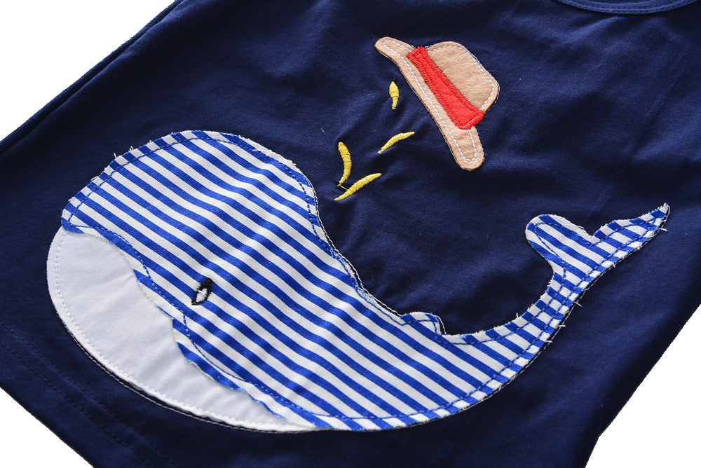 Baby Boys/ Boys Whale and Stripes 2 pc. Set