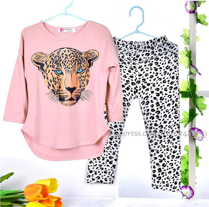 Girls Jaguar Pants & Shirt Set