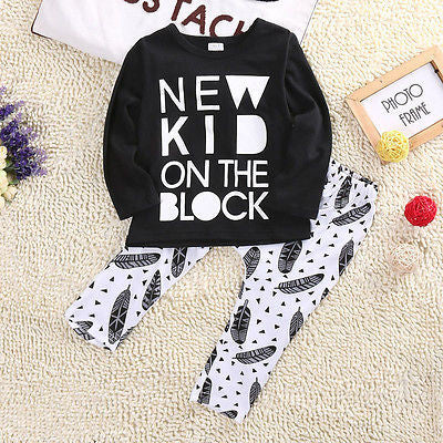 NKOTB Baby Boys Long Sleeve T-Shirt and Pants Set