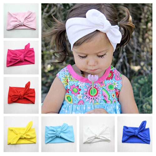Girls Solid Color Knot Headband