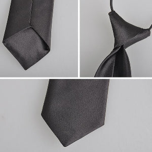 Boys Solid Color Elastic Neck Silky Tie: 20 Colors!!