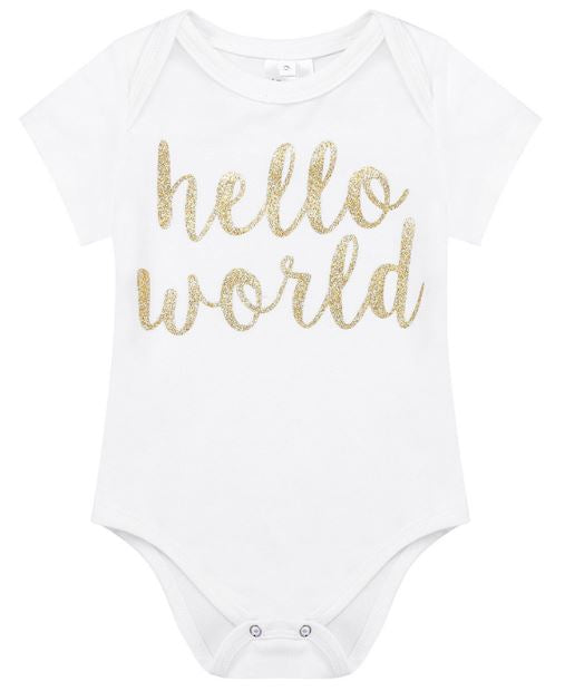 Baby Girls 3 pc. Hello World Set