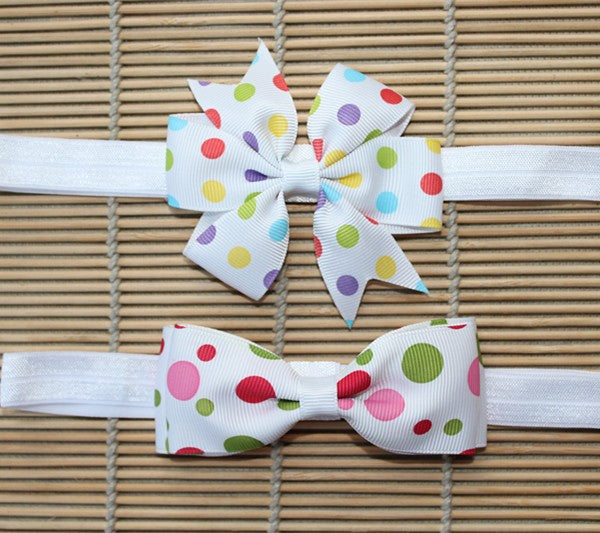Baby Girls Bow Headband 2 pc. Set: 31 Colors!!
