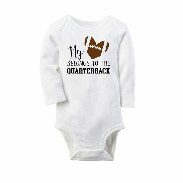Football Long Sleeve Game Day Baby Onesie: 8 Styles!!