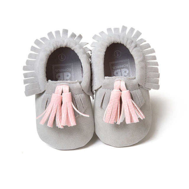 Unisex Baby Tassel Moccasins: 16 Colors!