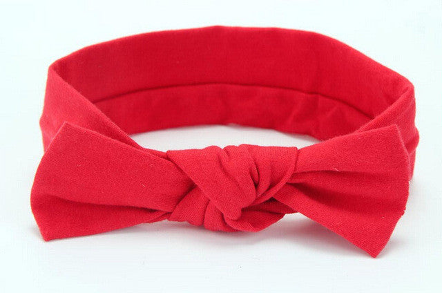 Baby Girls Big Bow Cotton Headband: 16 Colors!!