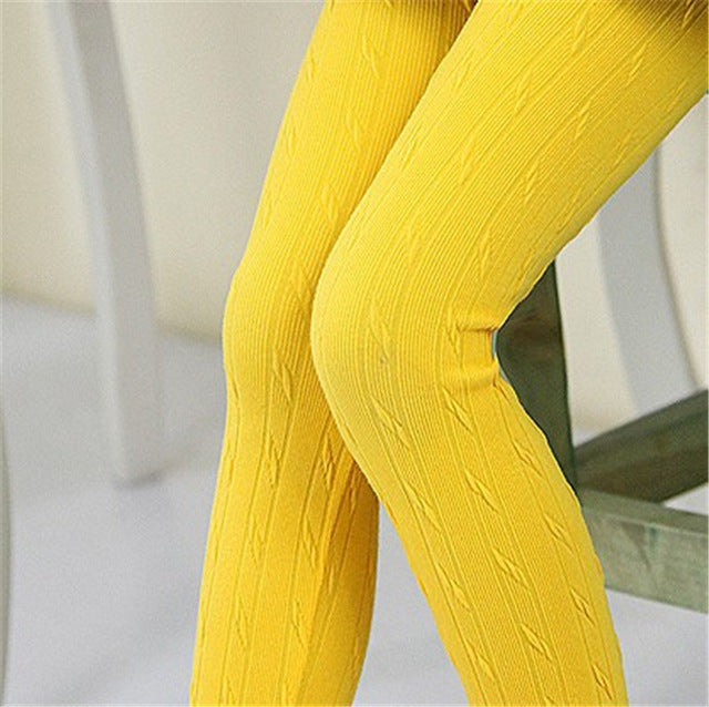 Girls Knit Tights/ Leggings