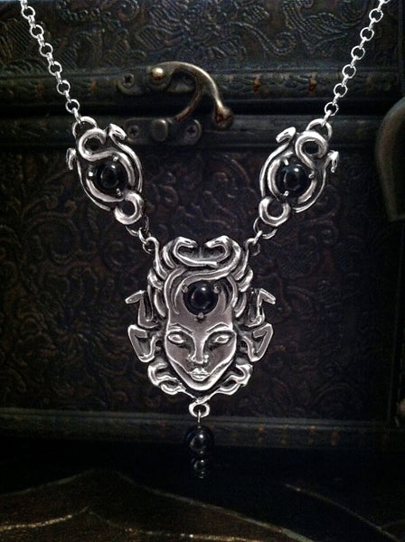 Medusa Pendant and Earring Set