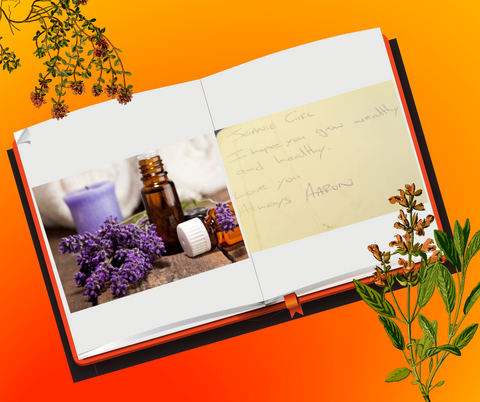 Aromatherapy book with note jeangeniehealth