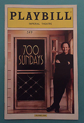 700 Sundays Opening Night Playbill - Broadway Bazaar