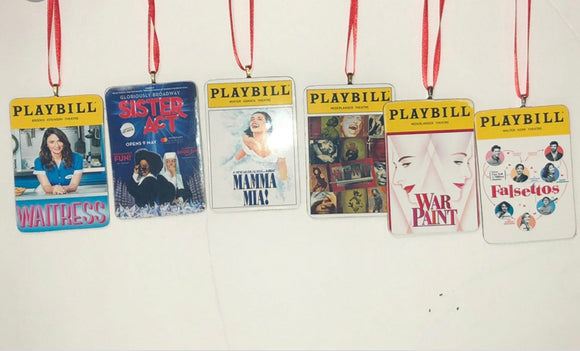 Broadway Playbill Ornament