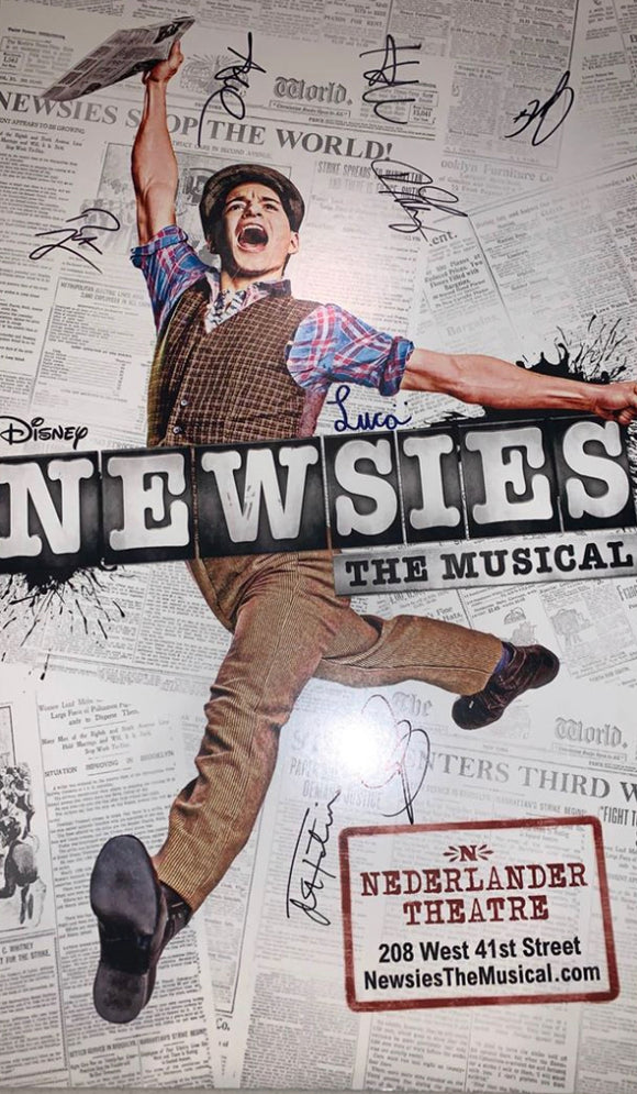 Newsies Window Card