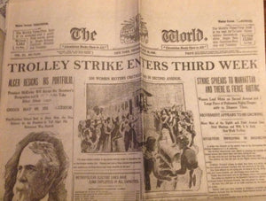 Trolley Strike Enters Third Week Prop Newspaper - Broadway Bazaar