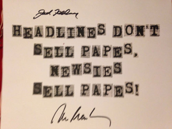NEWSIES Headlines Don't Sell Papes ...Word Art Signed! - Broadway Bazaar