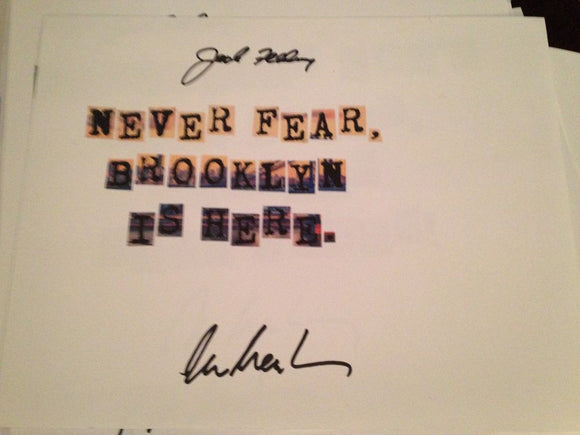 Never Fear, Brooklyn's Here Word Art Signed - Broadway Bazaar