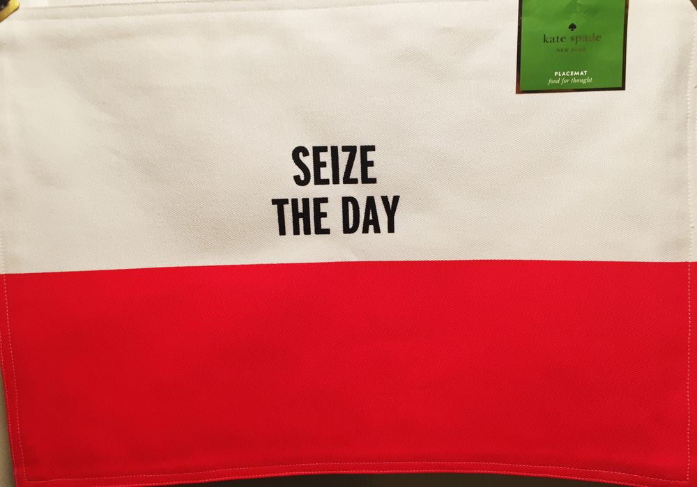 "Kate Spade ""Seize The Day"" Placemat - Broadway Bazaar"