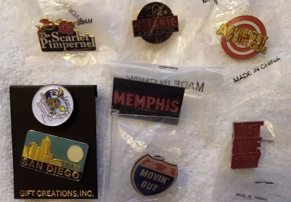 Broadway Musical Lapel Pin