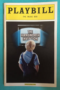 The Farnsworth Invention Playbill - Broadway Bazaar