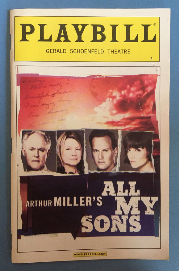 All My Sons Playbill - Broadway Bazaar