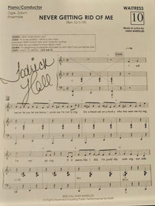 Waitress Signed Sheet Music