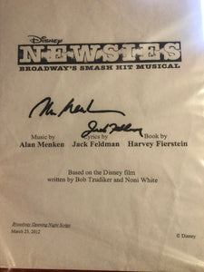 Newsies The Musical Official Script - Signed!