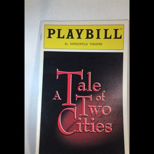 A TALE OF TWO CITIES Playbill - Broadway Bazaar  - 1