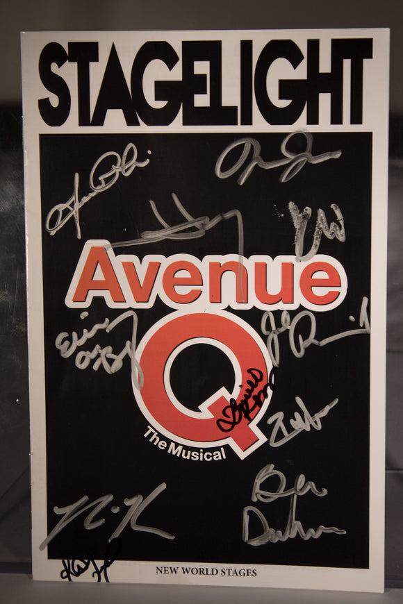 Avenue Q Off Broadway 2017 Signed Program