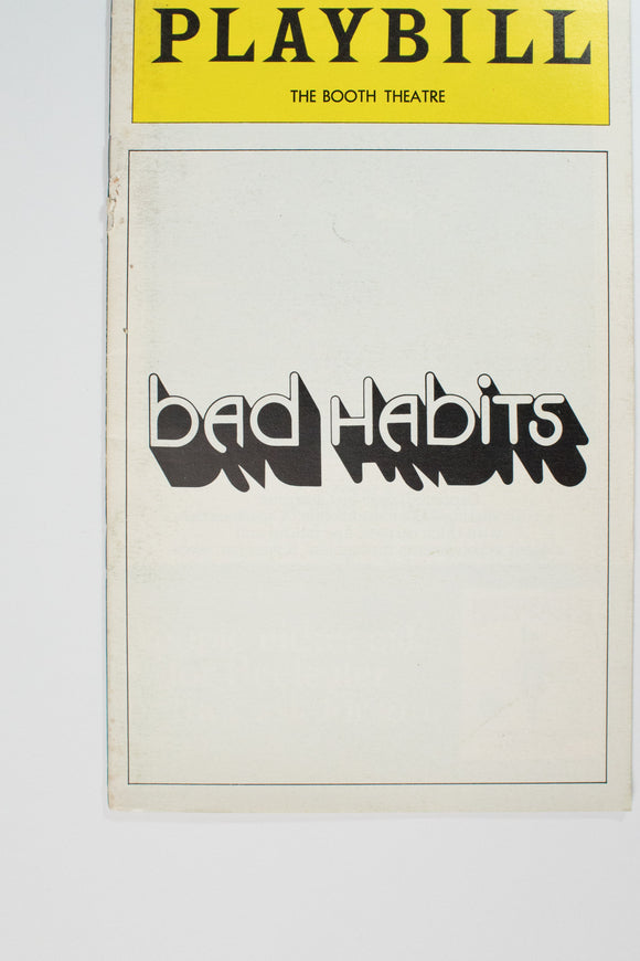 Bad Habits Playbill - Broadway Bazaar