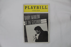 Barry Manilow At The Gershwin Playbill - Broadway Bazaar