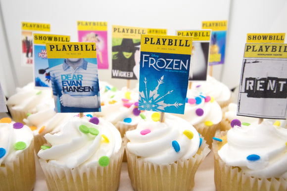 Playbill Cupcake Toppers
