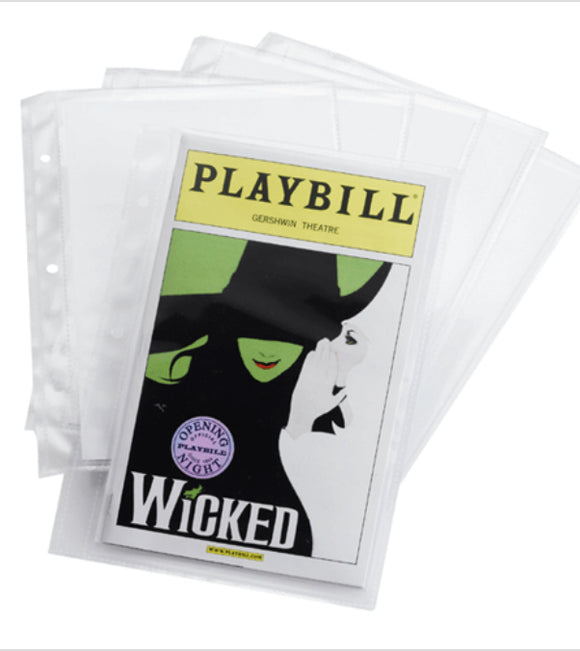 Playbill Sleeves