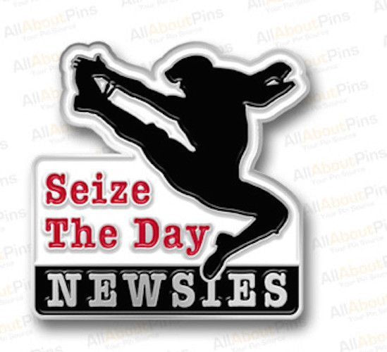 Newsies Seize The Day Lapel Pin