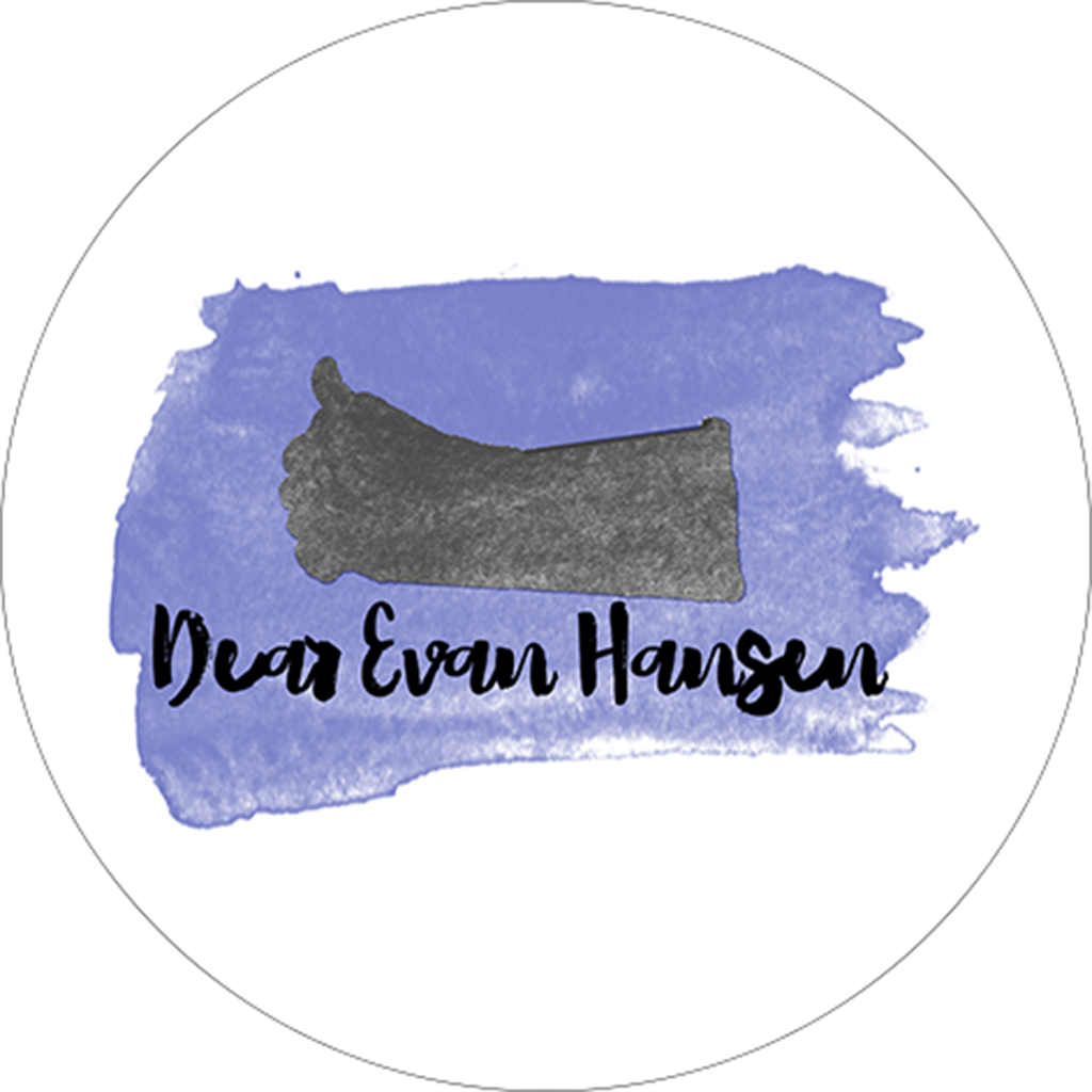 Dear Evan Hansen Watercolor Design Sticker