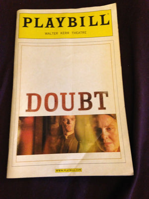 DOUBT Playbill - Broadway Bazaar