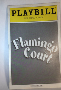 FLAMINGO COURT Playbill - Broadway Bazaar