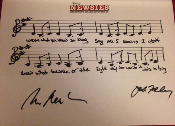 Disney's Newsies Musical Phrase - Signed!!