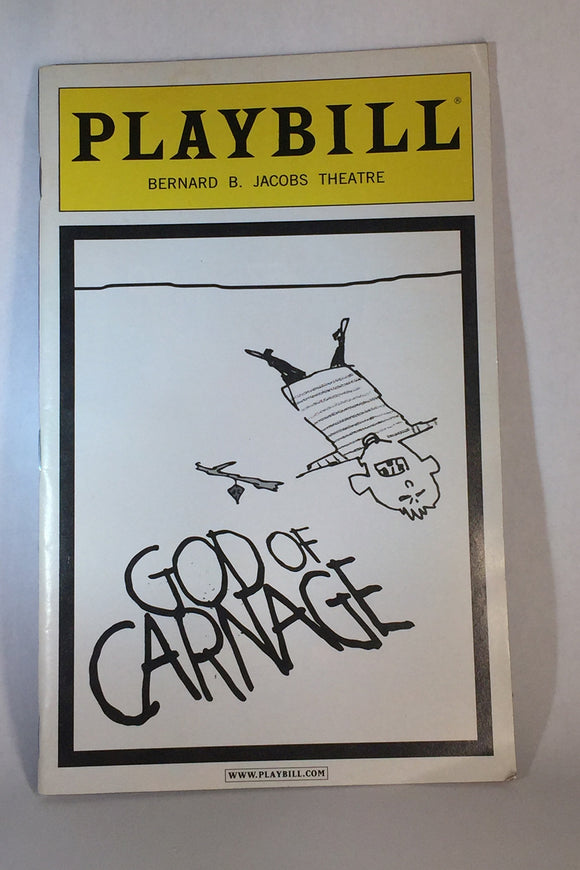 GOD OF CARNAGE Playbill - Broadway Bazaar